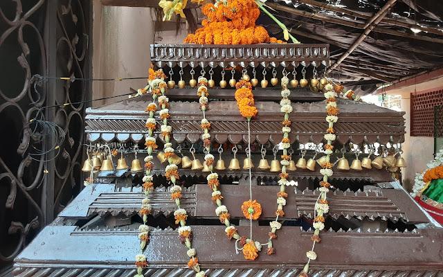 Wooden decorated Vimana during Holi Celebration
