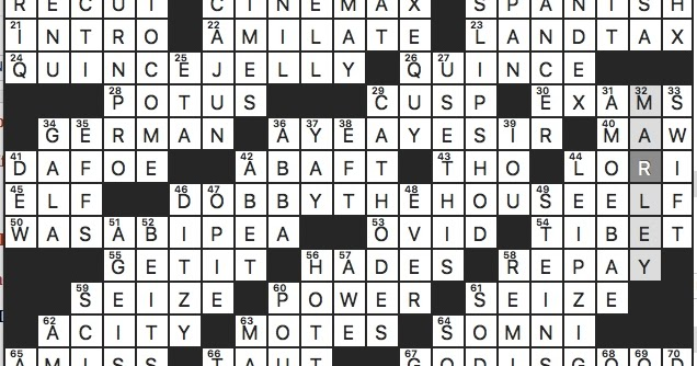 Rex Parker Does The Nyt Crossword Puzzle Longtime Eagles Qb Donovan Sun 2 16 20 Whom Harry Potter Frees From Serving Draco Malfoy S Family Area The Chinese Call Xizang Fictional