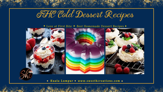 SHC Cold Dessert Recipes