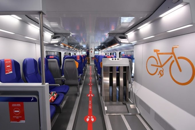 Inaugurato il nuovo treno Rock: è il mezzo di trasporto più ecologico in Italia