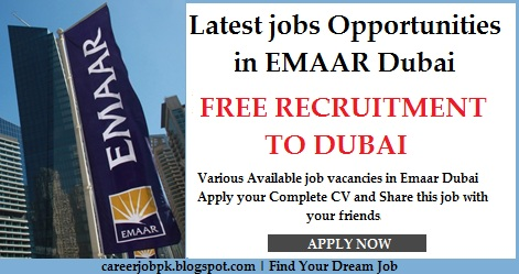 Latest jobs Opportunities in EMAAR Dubai