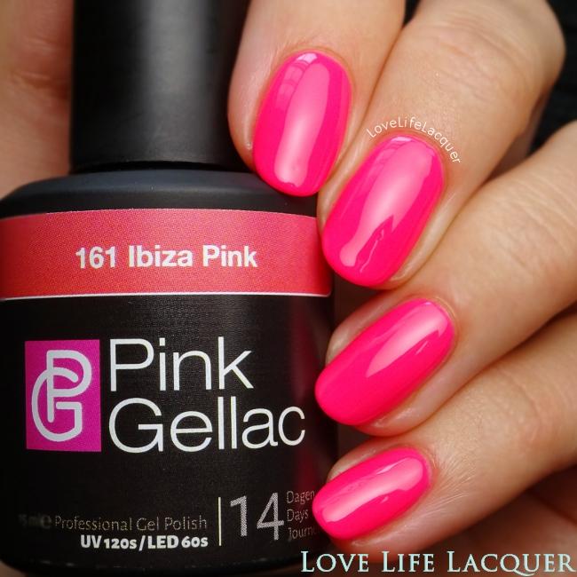 Pink Gellac Ibiza Pink gel polish swatch