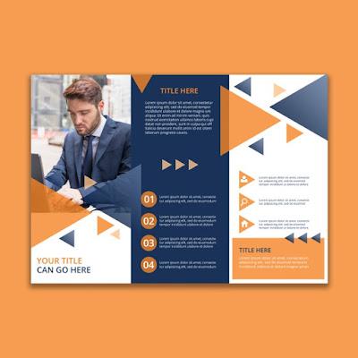 Download brosur Trifold geometri bisnis