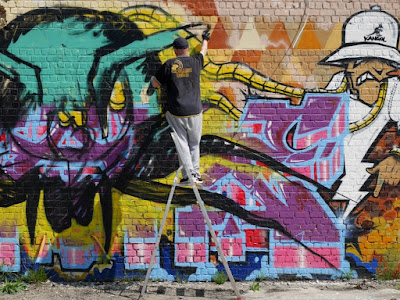 L'araignee au plafond - Fouad Hachmi - fresque murale