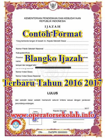 Contoh Format Blangko Ijazah