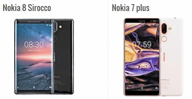 الفرق بين هاتف Nokia 7 plus و Nokia 8 Sirocco
