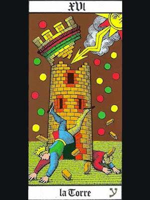 La carta dei tarocchi denominata ''la torre''