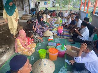 Camat katang Bidare berbuka puasa Bersama di Rumah masyarakat Benan