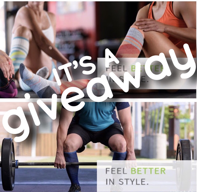 sock well compression socks running socks sports fatigue swelling blood clots sports giveaway contest enter to win