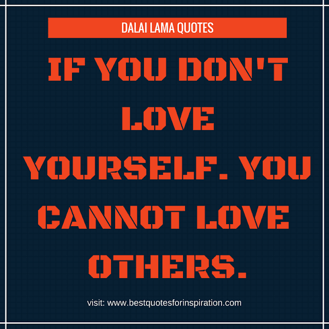 if you don't love yourself. you cannot love  others.