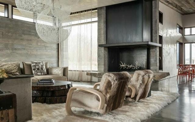 beautiful wooden house interior