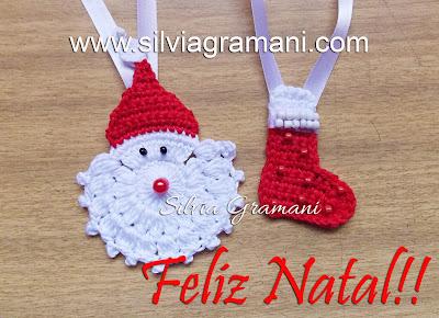 Papai Noel e Bota em Crochê - Feliz Natal!!