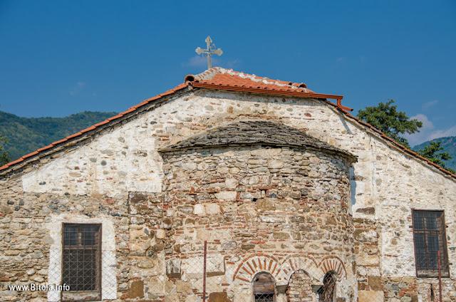 Church Dormition of the Mother of God in village Velushina, Bitola municipality, Macedonia