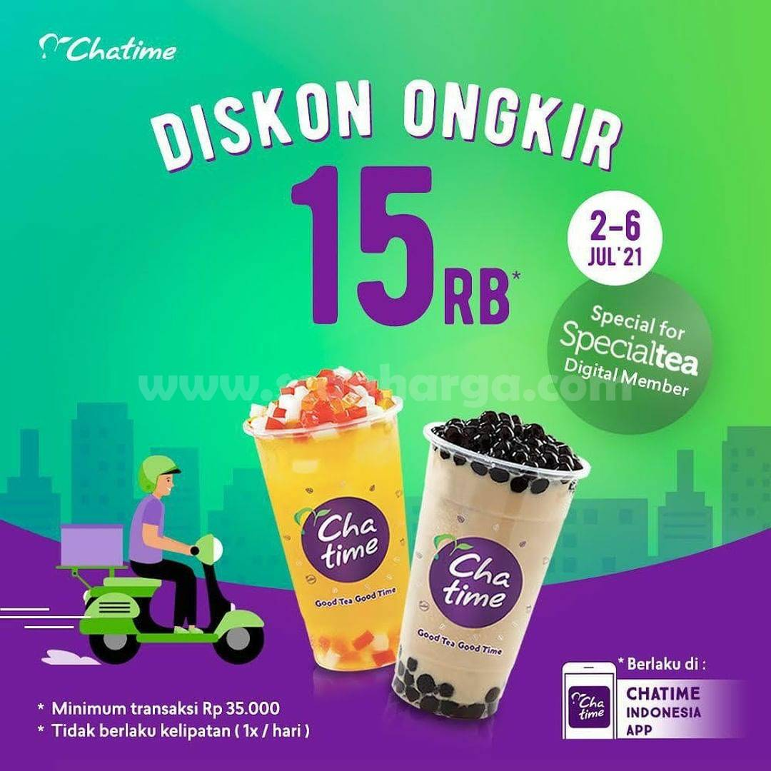 CHATIME Promo DISKON ONGKIR Rp. 15.000 di Chatime Mobile App