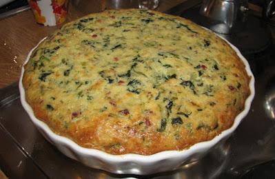 Crustless-Quiche-Spinach-Mushrooms
