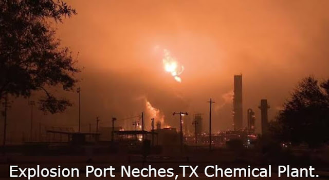 3 injured ,evacuations ordered: Explosion erupts at Port Neches,TX Chemical Plant.