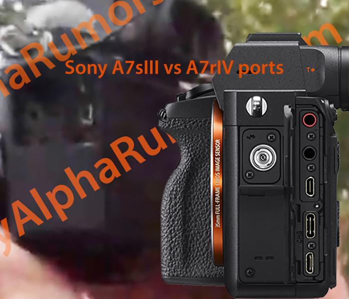 Разъемы Sony A7S III в сравнении с A7R IV