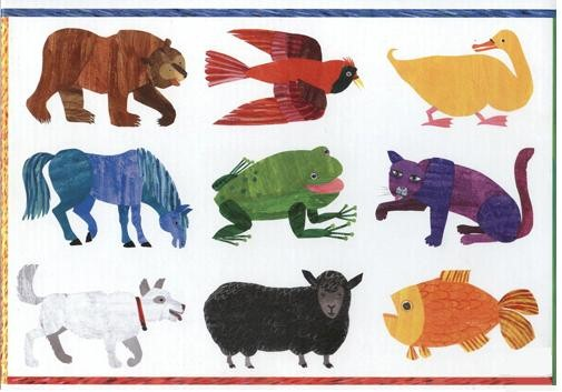 The independent little bee accessible eric carle diy for Brown bear coloring pages