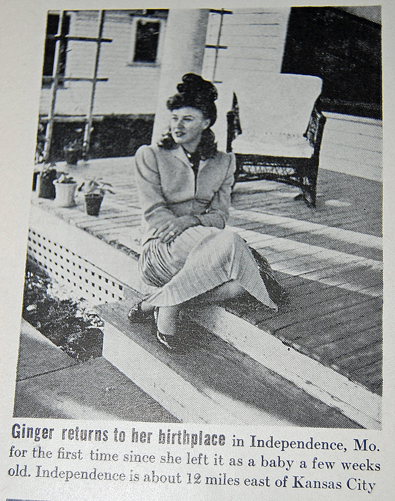 Ginger at the house