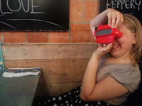 Jamie's Italian Review - Top Ender with her Viewmaster