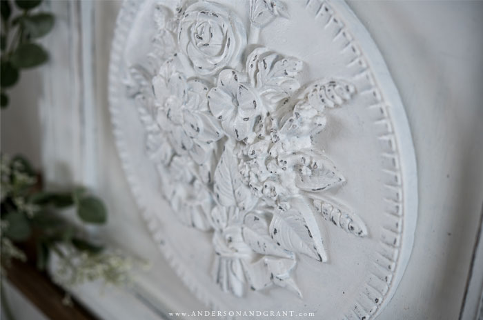 White floral medallion