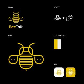 Desain Logo Startup BeeTalk
