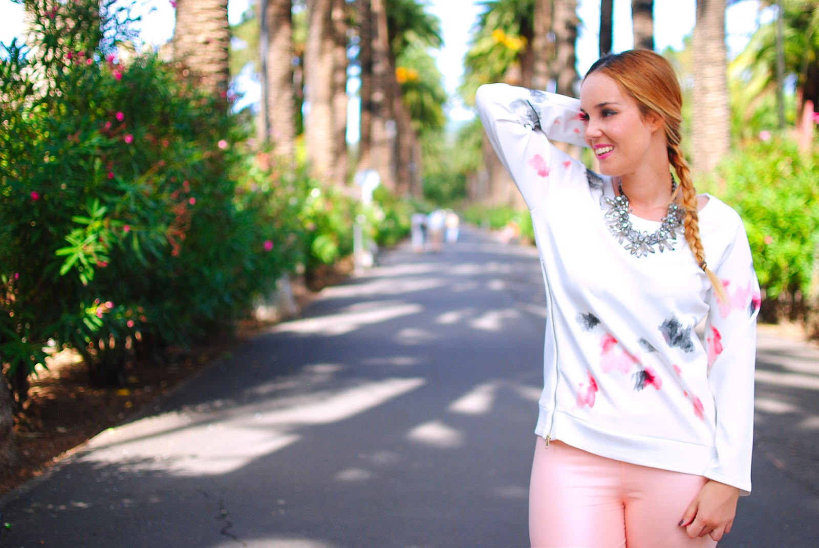 NERY HDEZ, two pieces, dos piezas, lovelyshoes, zara necklace, pink leggins