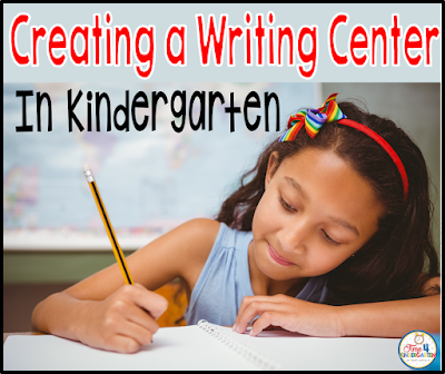 Creating a Writing Center in Kindergarten: How to set up from the beginning of the school year