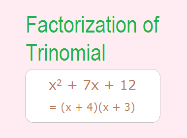 Factorization of Trinomial