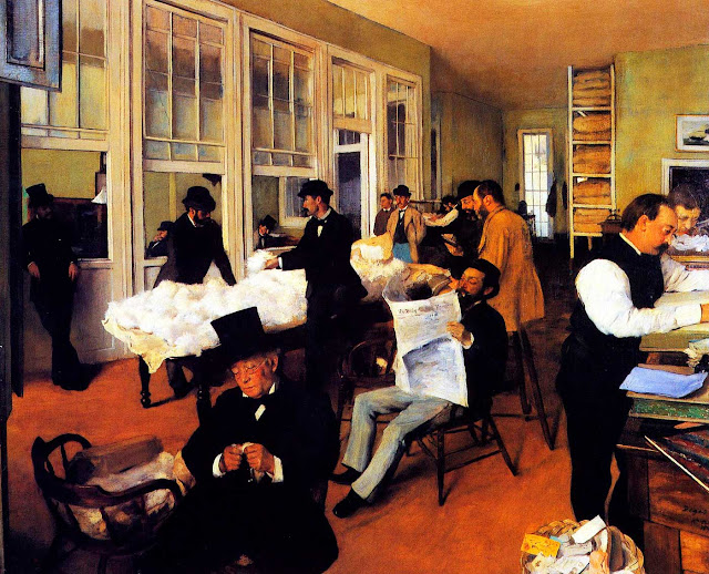 Эдгар Дега - Офис хлопковой компании в Новом Орлеане (1873)