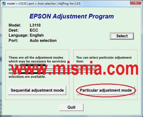 How to Reset Epson L3110 Printer