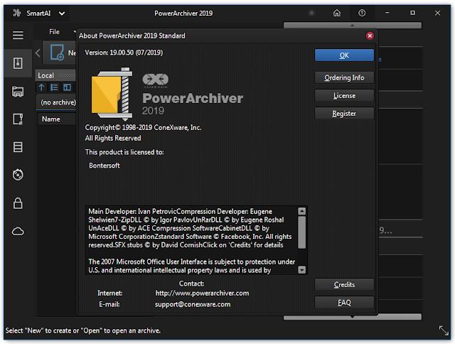 Screenshot PowerArchiver Standard 2019 v19.00.50 Full Version