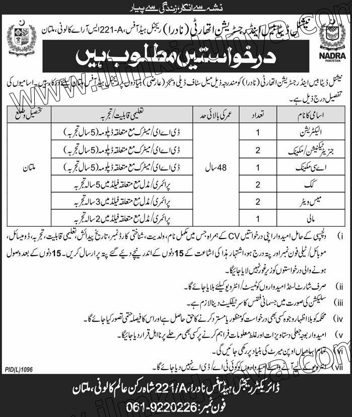 Jobs in nadra 2019 - nadra jobs october