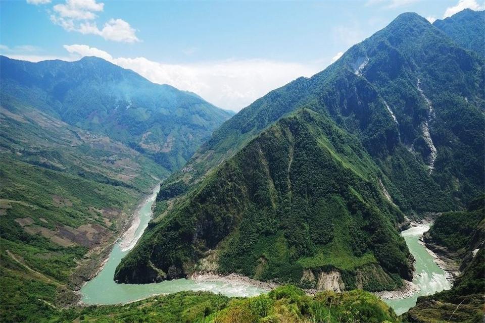 Река Брахмапутра в Гималаях