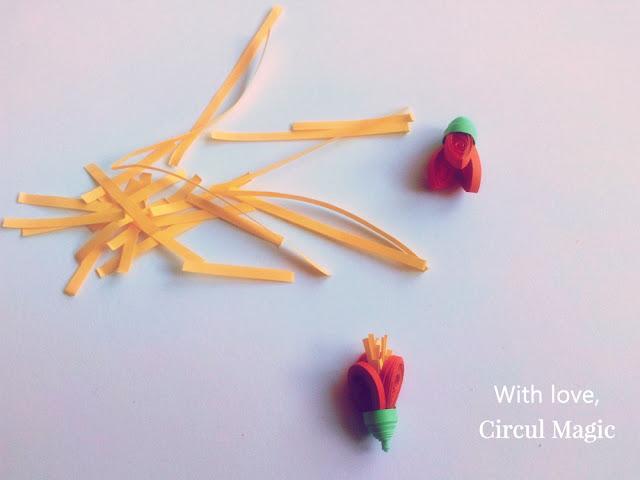 Circul Magic Flori quilling realizate din hartie