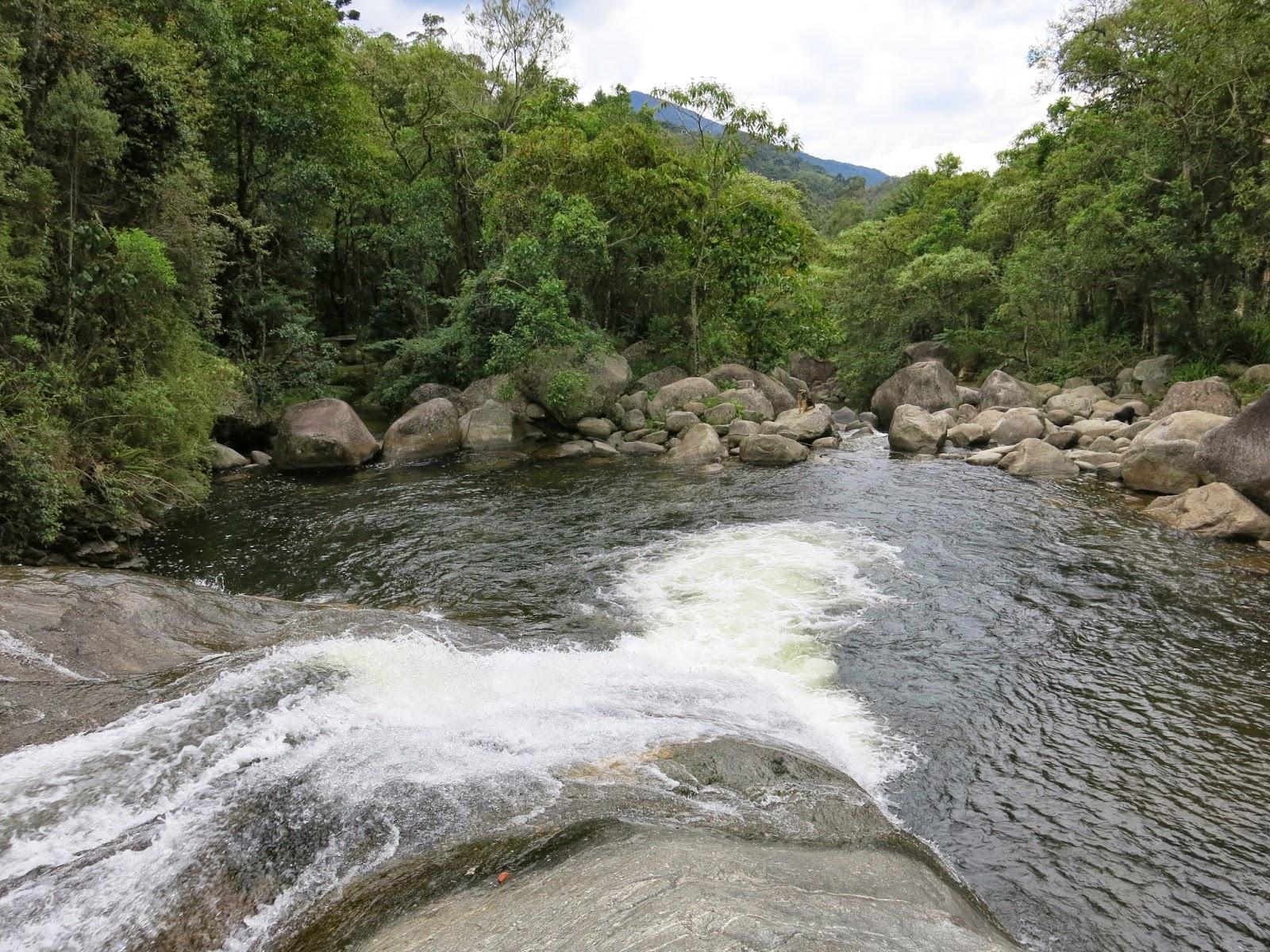 Cachoeira do Escorrega, na Vila de Maromba, em Visconde de Mauá.