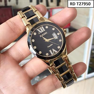 Đồng hồ đeo tay nam mặt tròn dây đá ceramic RD T27950