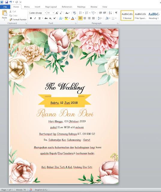 Cara Mudah Membuat Undangan Pernikahan Dengan Word