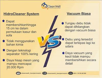 perbedaan mesin vakum cleanwell dan yang biasa