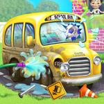 لعبة تنظيف باص مدرسة الاطفال الصغار