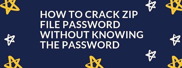 How to crack zip file password
