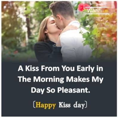 Happy Kiss Day quotes for Wife