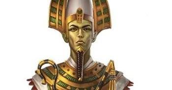 Gambar dewa Osiris dari Mesir - catatan adi