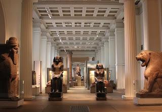 Larger than lifesize statues of Egyptian gods