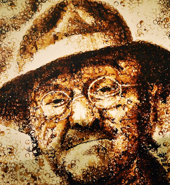 Coffee Cup Stain Portrait by Red Hong Yi