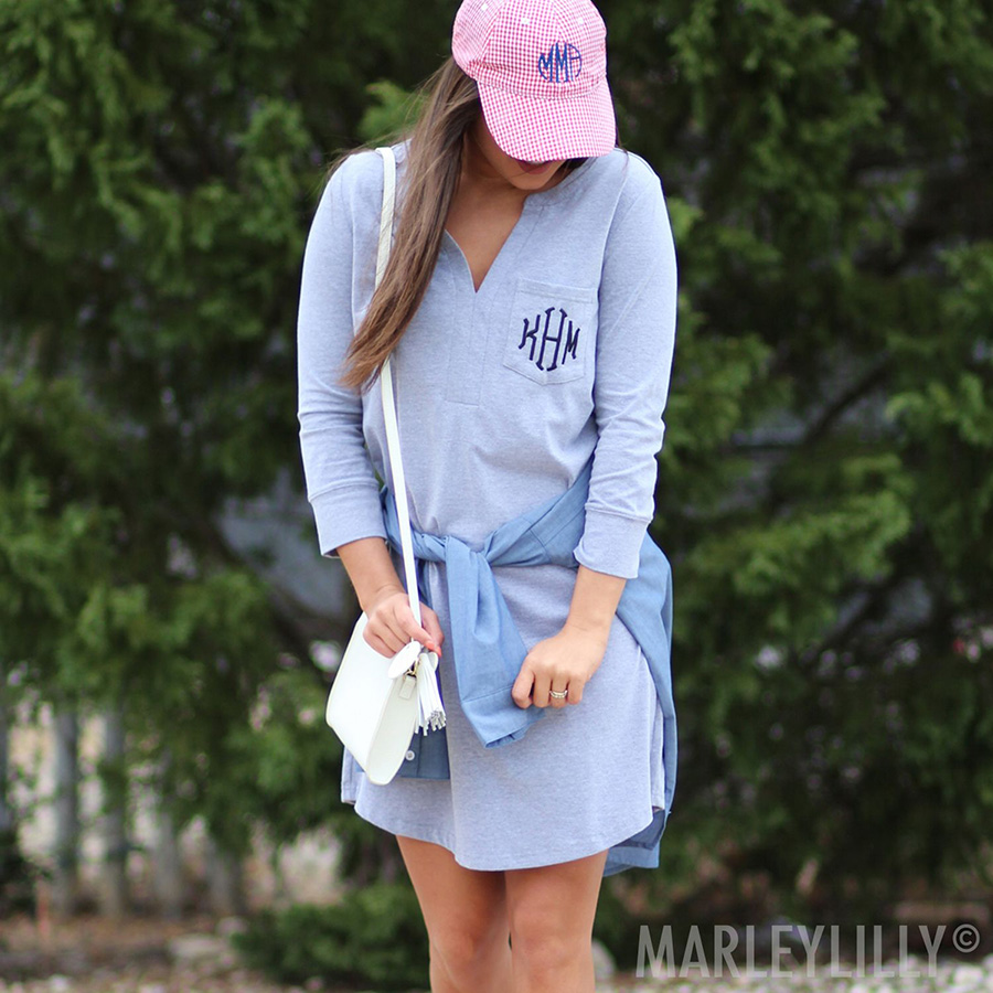The Monogrammed V-Neck Dress