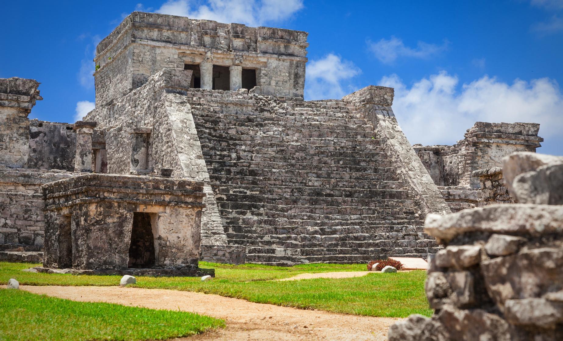 Посещение Руин майя в Косумель, Мексика