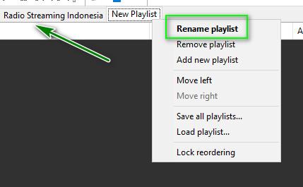 Rename Playlist Di Aplikasi Foobar2000