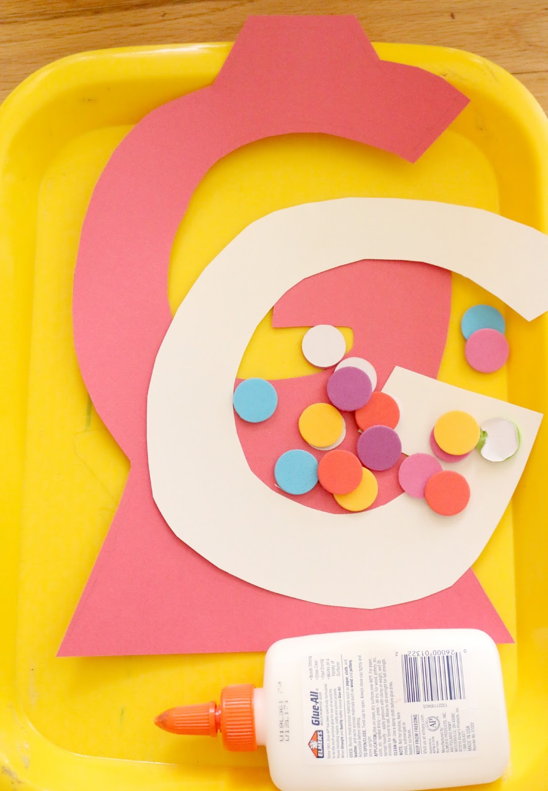 Letter G Gumball Craft