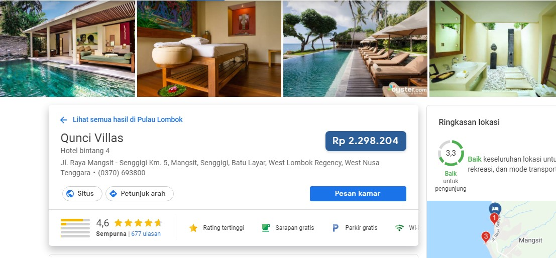 Review Hotel Bulan Madu di Lombok